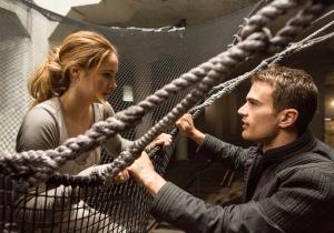 Jaap Buitendijk/Summit Entertainment, LLC. Tris (Shailene Woodley) and Four (Theo James).