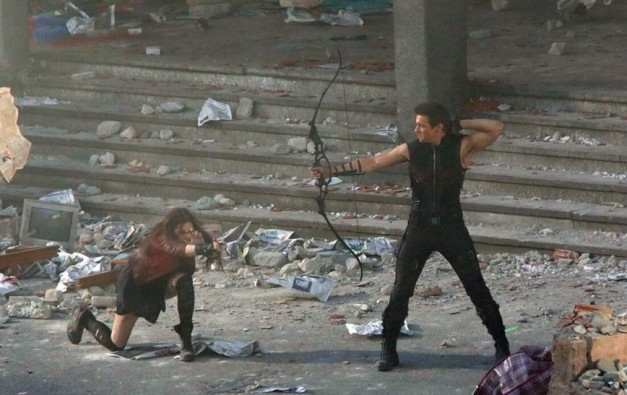Hawkeye and Scarlett Witch from Avengers Age of Ultron