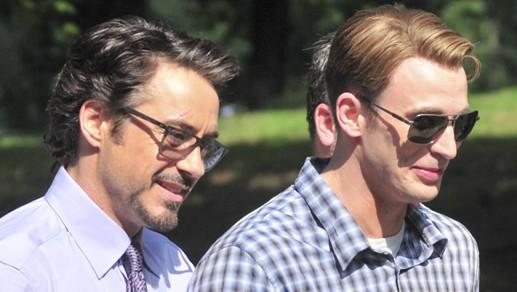 Robert Downey Jr and Chris Evans