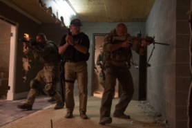 Robert Zuckerman/Open Road Films Neck (Josh Holloway), Breacher (Arnold Schwarzenegger), Pyro (Max Martini), and Tripod (Kevin Vance).