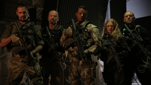 sabotage-Josh Holloway, Max Martini, Terrence Howard, Mirielle Enos and Sam Worthington