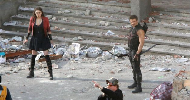 scarlet witch and hawkeye in Avengers Age of Ultron