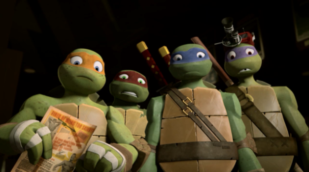 Teenage Mutant Ninja Turtles confused
