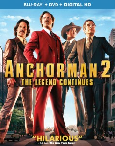 Anchorman 2 The Legend Continues blu ray cover