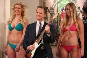 How I Met Your Mother - Barney with girls in bikinis
