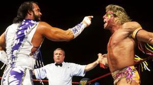 Ultimate Warrior vs Randy Savage from Wrestlemania 7