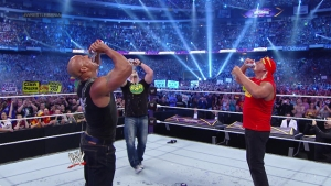 wrestlemania 30 - rock, stone cold and hogan