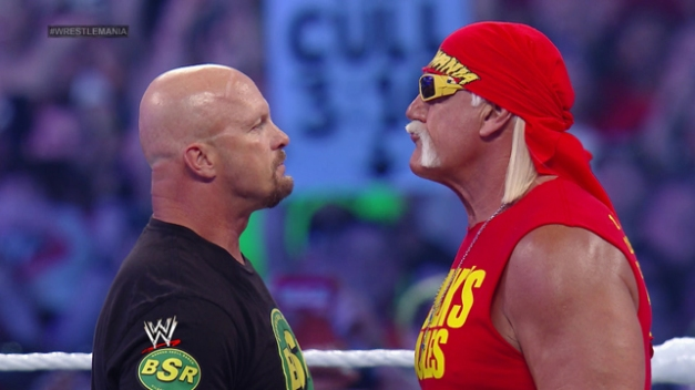 wrestlemania 30 - stone cold and hogan