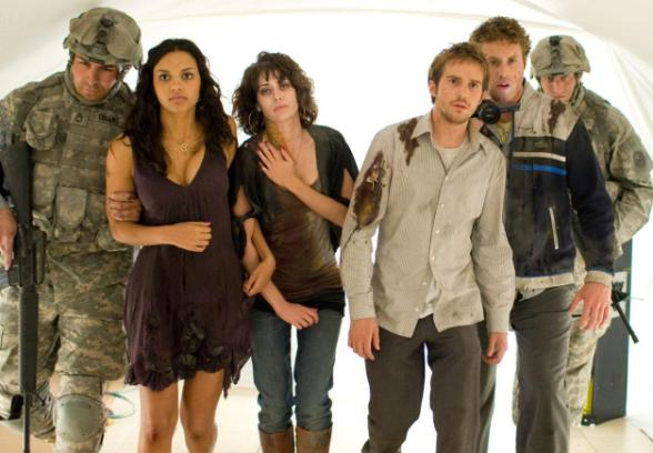 cloverfield - jessica lucas, lizzy caplan, Michael Stahl-David and TJ Miller