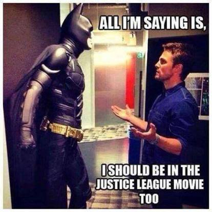 Stephen Amell pitching Arrow for Justice League