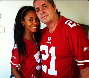 Bret and his wife have awesome taste in football teams.