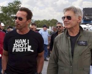 Arnold Schwarzenegger and Han Solo