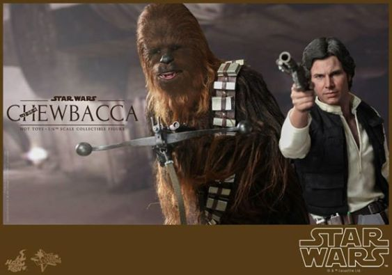 Hot Toys Star Wars Chewbacca - aiming with Han