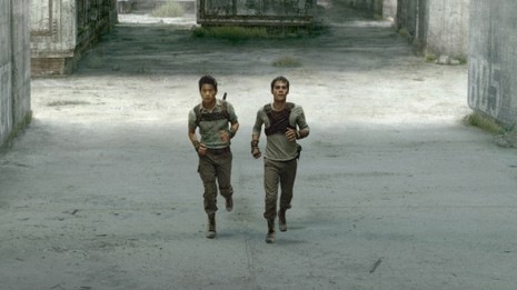 20th Century Fox Minho (Ki Hong Lee, left) and Thomas (Dylan O'Brien, right) search for a way out of the maze.