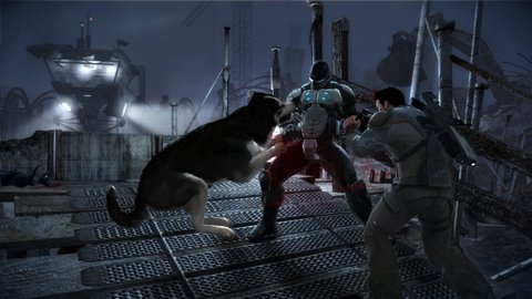 dead-to-rights-retribution-Shadow helping ps3