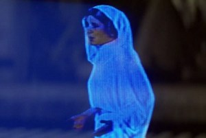 Princess Leia hologram you're my only hope