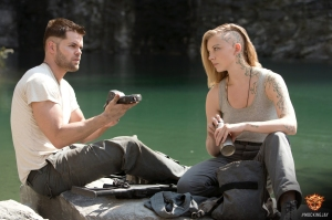 The Hunger Games - Mockingjay Part 1 - Wes Chatham as Castor and Natalie Dormer as Cressida
