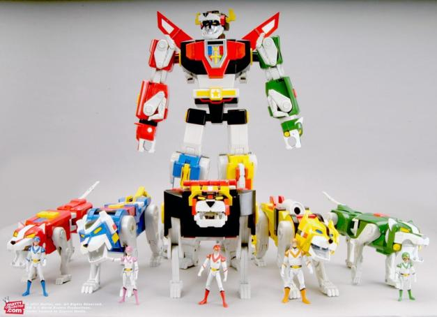 Voltron toy line Mattel
