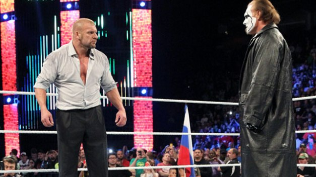 WWE Survivor Series - Triple H squares off with Sting