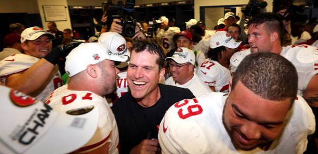 49ers NFC Championship game 2012 Jim Harbaugh