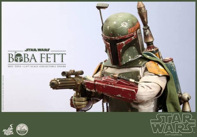 Hot Toys Return of the Jedi Boba Fett figure -aiming gun