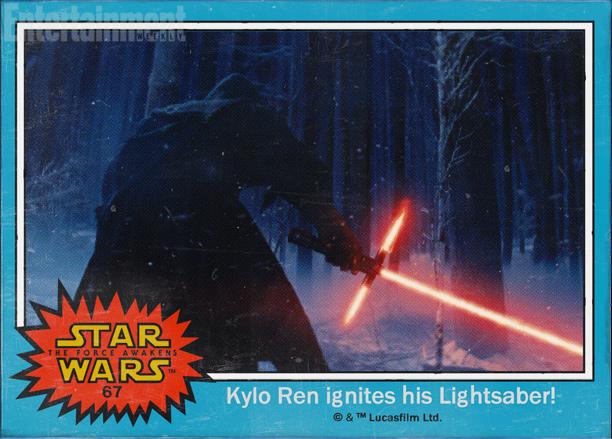 Star Wars - The Force Awakens - Kylo-Ren trading card