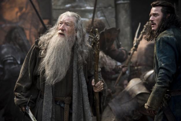 Warner Bros. Pictures Gandalf (Ian McKellen) and Bard (Luke Evans).