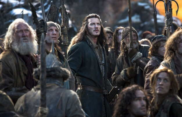 Warner Bros. Pictures Bard the Bowman (Luke Evans) and the citizens of Lake-Town.