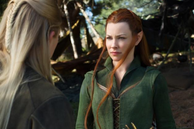 Mark Pokorny/Warner Bros. Pictures Legolas (Orlando Bloom) and Tauriel (Evangeline Lilly).