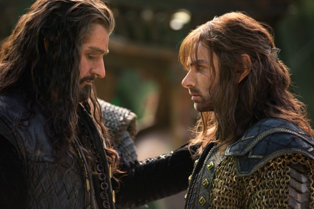Todd Eyre/Warner Bros. Pictures Thorin (Richard Armitage) and Kili (Aidan Turner).