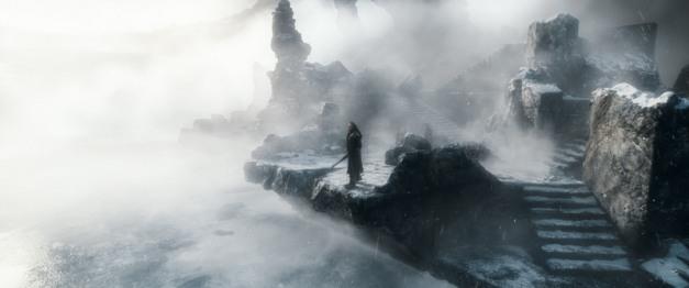 Warner Bros. Pictures Thorin (Richard Armitage) atop a mountain.