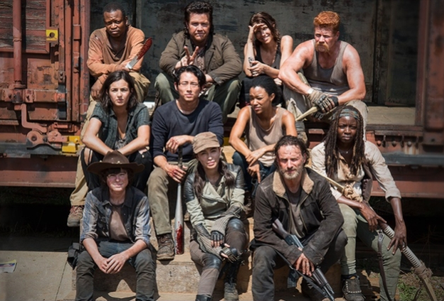 "The way they were - the cast of the start of Season 5 of ""The Walking Dead."""