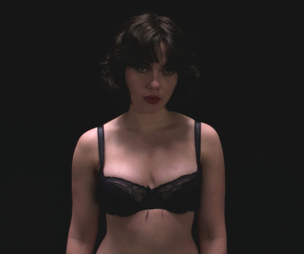 Under the Skin movie - Scarlett Johansson in the dark room