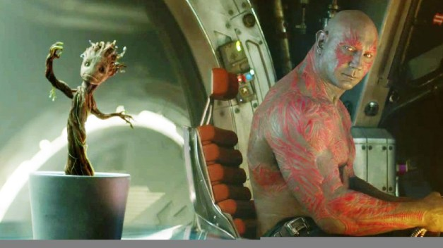 Baby Groot with Drax