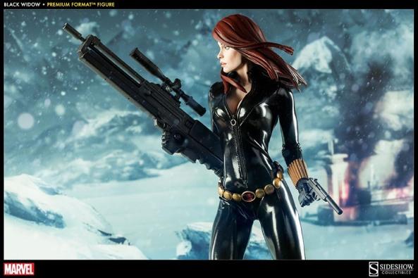 Black Widow - Marvel Premium Format Figure - wide shot with both guns