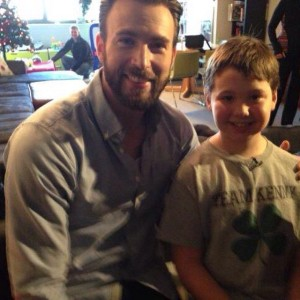 Chris Evans with 9-year-old Kenny