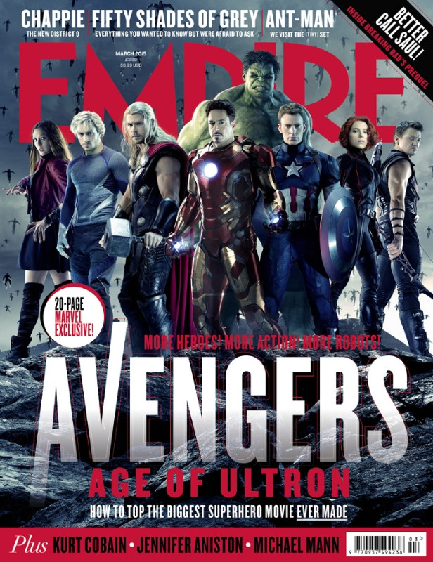 EMPIRE Avengers Age of Ultron covers - Avengers