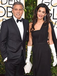 George Clooney and Amal 2015 Golden Globes