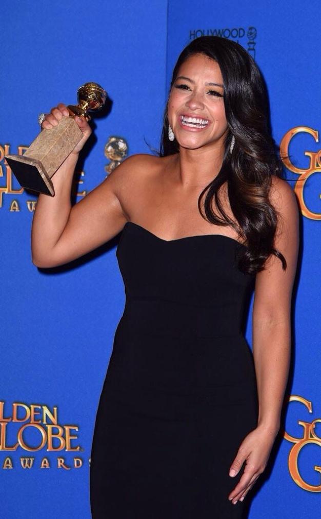 Gina Rodriguez 2015 Golden Globe picture