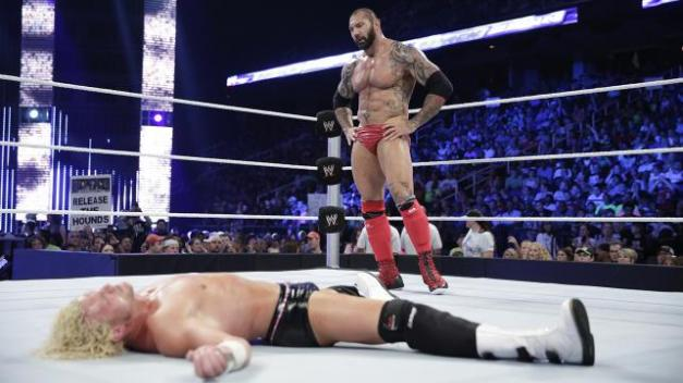 Best of Raw Smackdown 2014 -  Batista vs Dolph Ziggler