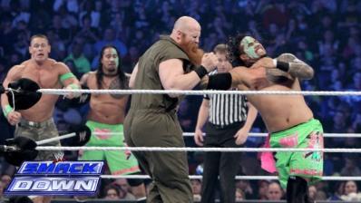 Best of Raw Smackdown 2014 -  John Cena and Usos vs Wyatt Family