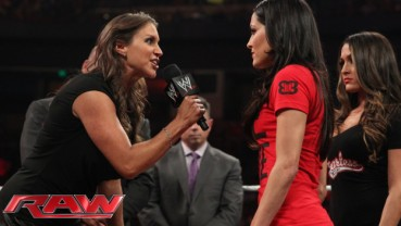 Best of Raw Smackdown 2014 - Stephanie McMahon contract signing with Brie Bella Nikki Bella