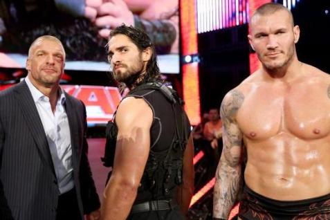 Best of Raw Smackdown 2014 - Triple H, Seth Rollins and Randy Orton after Shield turn