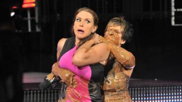 Best of Raw Smackdown 2014 - Vickie Guerrero vs Stephanie McMahon mud pool