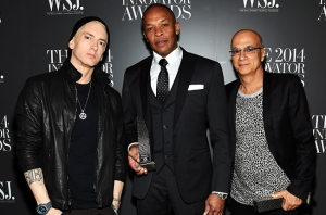 eminem-dr-dre-jimmy-iovine-wsj-innovator-of-the-year-2014-