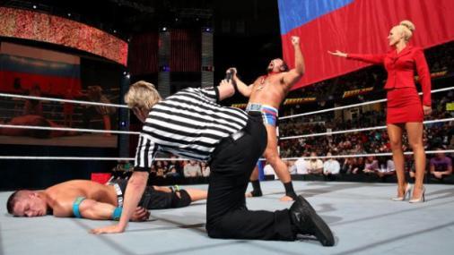 FastLane -  Rusev beats Cena