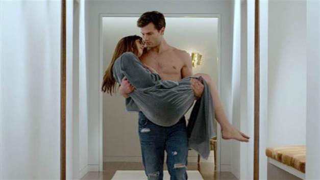 Fifty Shades of Grey - Jamie Dormer shirtless and Dakota Johnson
