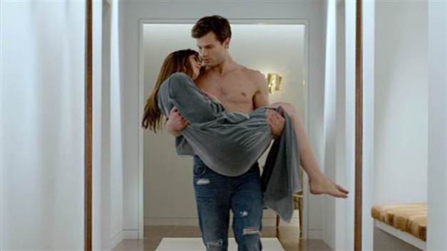 Fifty Shades of Grey - Jamie Dormer shirtless and Dakota Johnson