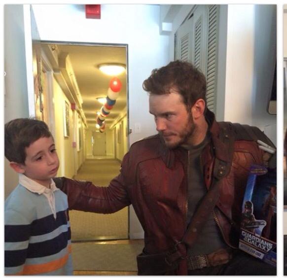 Chris Pratt as Star Lord with friend