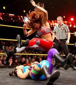 NXT 2.25.15 - Bayley vs Becky Lynn